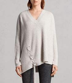 Womens Able Laced Sweater (PORCELAIN WHITE) - Image 1