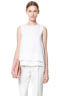 LAYERED TOP WITH SEAM AT THE FRONT - Tops - Woman | ZARA United States