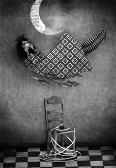 Breath-taking black and white illustration by Gabriel Pacheco Illustrations, Book Illustration, Gabriel Pacheco, Juan Palomino, Magic Realism, Mexican Artists, Miguel Angel, Art Academy, Black And White Illustration