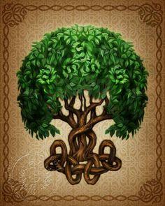 Celtic tree of life print.