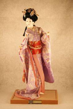 """Japanese Kyugetsu Geisha Doll 15"""" Doll Yamaha"""