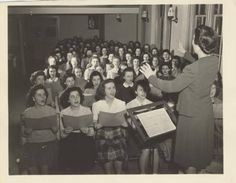 Choir students practicing at the piano, 1947 http://mtholyoke.cdmhost.com/cdm/singleitem/collection/p1030coll8/id/4123/rec/7