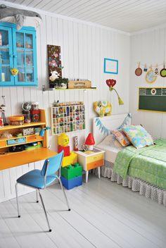 vintage kids room çocuk odaları Bebek-Cocuk.net