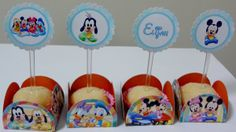 100 Mini Totens Mickey E Minnie Baby Personalizados R$ 3500 No