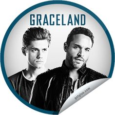 ORIGINALS BY ITALIA's #USANetwork #Graceland #SpecialScreening #AaronTveit as #MikeWarren and #DanielSunjata as #PaulBriggs #GetGlue #Sticker