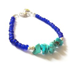 Riverside bracelet Blue seed beaded bracelet por FlorAccessoires