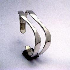 Sterling Silver Twin Curve Cuff Bracelet