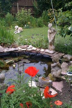Stunning statues surround my pond