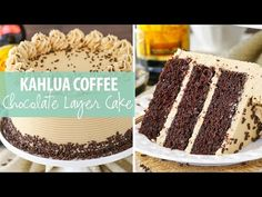 This Kahlua Coffee Chocolate Layer Cake is made with a moist chocolate Kahlua cake covered in Kahlua coffee frosting! It's so good, you won't want to share! Best Chocolate Cake, Chocolate Coffee, Dump Cake Recipes, Dessert Recipes, Kahlua Cake, Smooth Cake, Cake Cover, Christmas Desserts, Cupcake Cakes