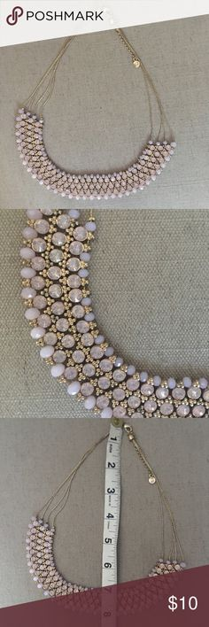 pink rhinestones & chunky turquoise necklaces These necklaces are the perfect accent piece! down east Jewelry Necklaces