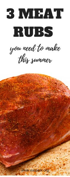 3 DIY meat rubs to spice up any recipe. You already have this in your pantry! I Love Food, Good Food, Cooking Tips, Cooking Recipes, Pork Rub, Meat Marinade, Meat Rubs, Easy Family Meals, Family Recipes