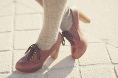 oxford pumps are pretty cute with socks...