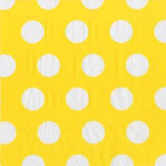 Plates and Napkins   Napkins   100% Recycled Paper Napkins   Recycled Luncheon Napkin Big Dot Yellow-pkg20   Green Toys, Gifts & Party Supplies at Green Party Goods