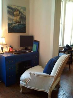 Nautical home office - This is my apt :D