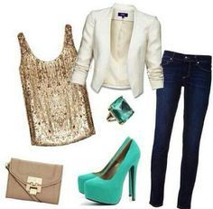 Cute holiday party outfit