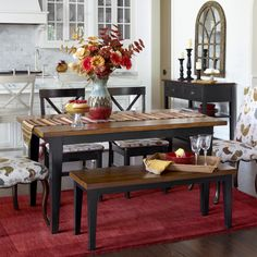 Carmichael Dining Table - Rubbed Black | Pier 1 Imports
