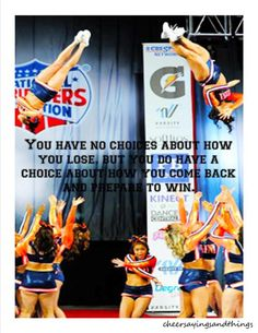 I don't do cheer but loved the quote