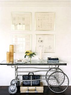 Creative decor idea! How amazing is this bicycle table? ♥