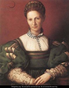 Portrait of a Lady in Green, 1530-32  by Agnolo Bronzino. Royal Collection, Windsor Castle, London