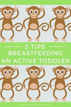 5 Tips - Breastfeeding an active Toddler