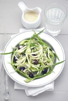 puntarelle con salsa tiepida di alici e aglio www.pane-burro.blogspot.it