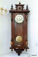 # antique regulator clocks made in vienna  on ebay -