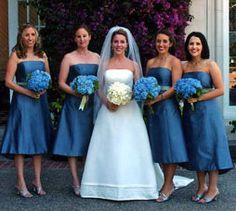 vestidos de damas de honor color azul. Boda / matrimonio