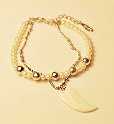 18K RGP Double Strands Beaded Bracelet