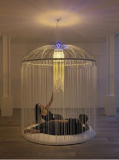 Wonderful Kinda Creepy/kinda Cool Way To Create Birdcage / Indoor Gazebo... My  Inspiration Is For Chandelier Ideas, Though.