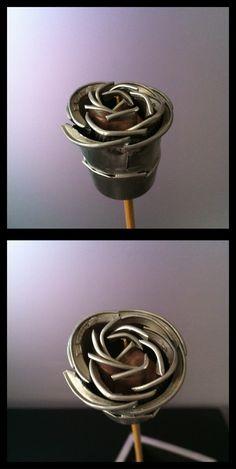 Flor con capsulas nespresso