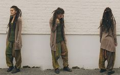 Dreadlocks and earthy tones (by Rania Maria) http://lookbook.nu/look/2381785-Dreadlocks-and-earthy-tones