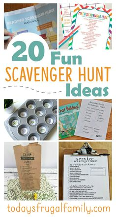 Are you looking for some great family activity ideas? Come see these 20 FUN scavenger hunt ideas! :: todaysfrugalfamily.com