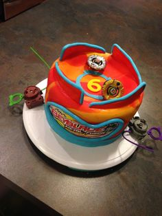 Beyblade Cake - One of mine!