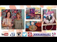 Programa 03 ArteZ TV 06-04-17 Efecto Tela-Modelado en porcelana soft-Fondos con tintas - YouTube