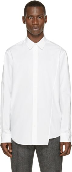 3.1 PHILLIP LIM White Classic Poplin Shirt. #3.1philliplim #cloth #shirt