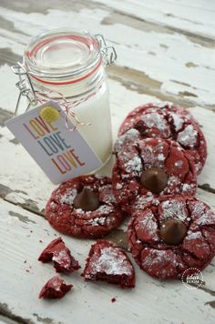 Red Velvet Cookies Hershey's Kiss
