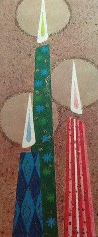 Vintage Mod Christmas Candle Card