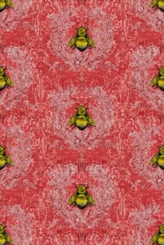 Imperial Apiary wallpaper by Timorous Beasties Timorous Beasties, Cute Bee, Bees Knees, Wall Wallpaper, Bathroom Wallpaper, Wall Treatments, Rugs In Living Room, Room Rugs, Textile Patterns