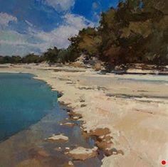 Along the Blanco by Jill Carver Oil ~ 30 x 30
