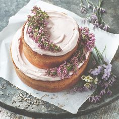 How to make a lavender layer wedding cake   Cakes   Plan Your ...