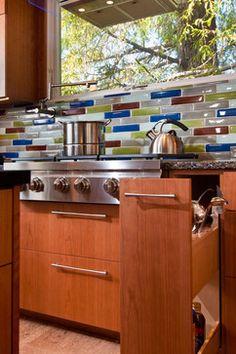 glass backsplash in phoenix | Glass Tile Backsplash Kitchen Design Ideas, Pictures, Remodel, and ...