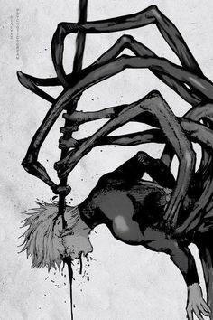 Horror Anime,токийский гуль,канеки-кен.