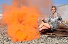 Unicorn Makeup + Smoke Bombs Photo Shoot