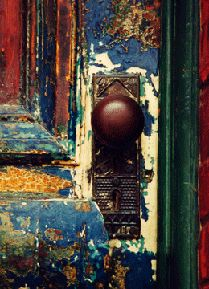 I want this door. Ethnic door colours  For more ethnic fashion inspirations and tribal style visit www.wandering-threads.com