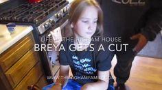 Breya Gets A Cut Life In The Higham House www.TheHighamFamily.com