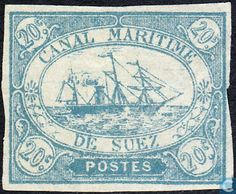 Postage Stamps - Suez Canal - Steam Ship