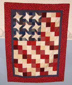 Americana Wall Hanging A donation to the Wounded by LooLooQuilts, $210.00