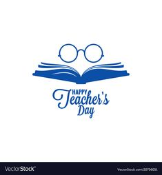 Teachers day logo glasses and book icon on white vector image on VectorStock Teachers Day Poster, Happy Teachers Day, Teacher Logo, Teacher Quotes, Teacher Images, Apple School, Happy Ganesh Chaturthi Images, Graphic Design Lessons, Glasses Logo