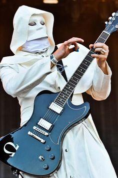 Omega in his white cloak