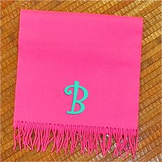 100% Cashmere Hot Pink Scarf. $20
